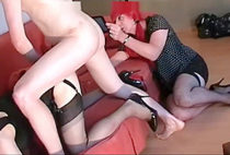 Crossdressers In lingerie poked In The anal